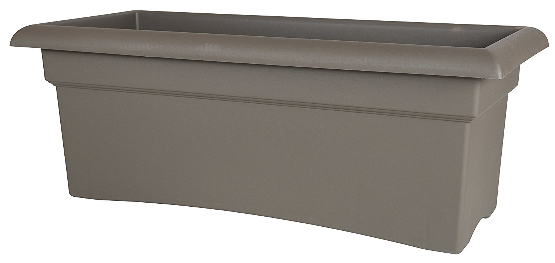 Fiskars 26 Inch Veranda 3 Gallon Rectangular Planter, Color Cement (57726)