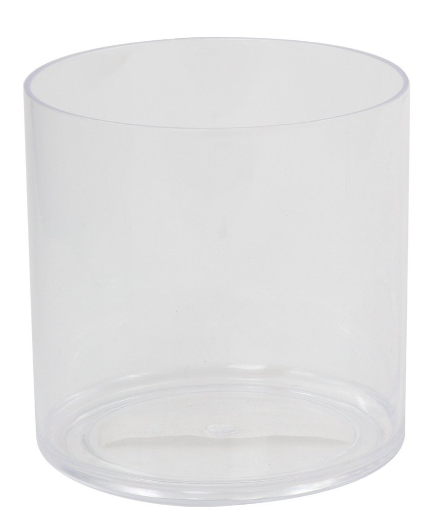 "Flower Acrylic Vase Decorative Centerpiece For Home or Wedding by Royal Imports - Break Resistant - Cylinder Shape, 6"" Tall, 6"" Opening"