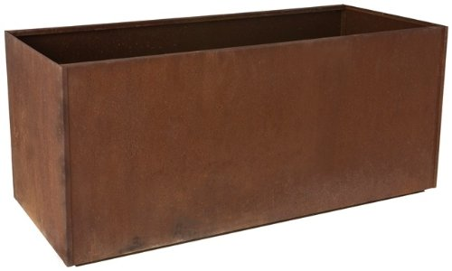 "Nice Rectangular Corten Steel Planter – 20""x46""x20"""