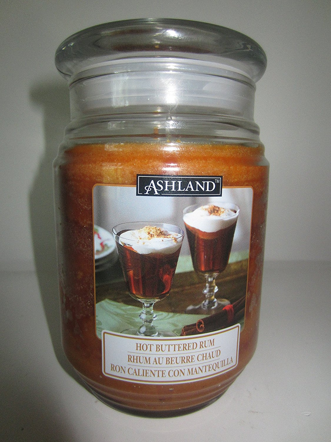 Scented Candle in a Large 17 oz Jar HOT BUTTERED RUM