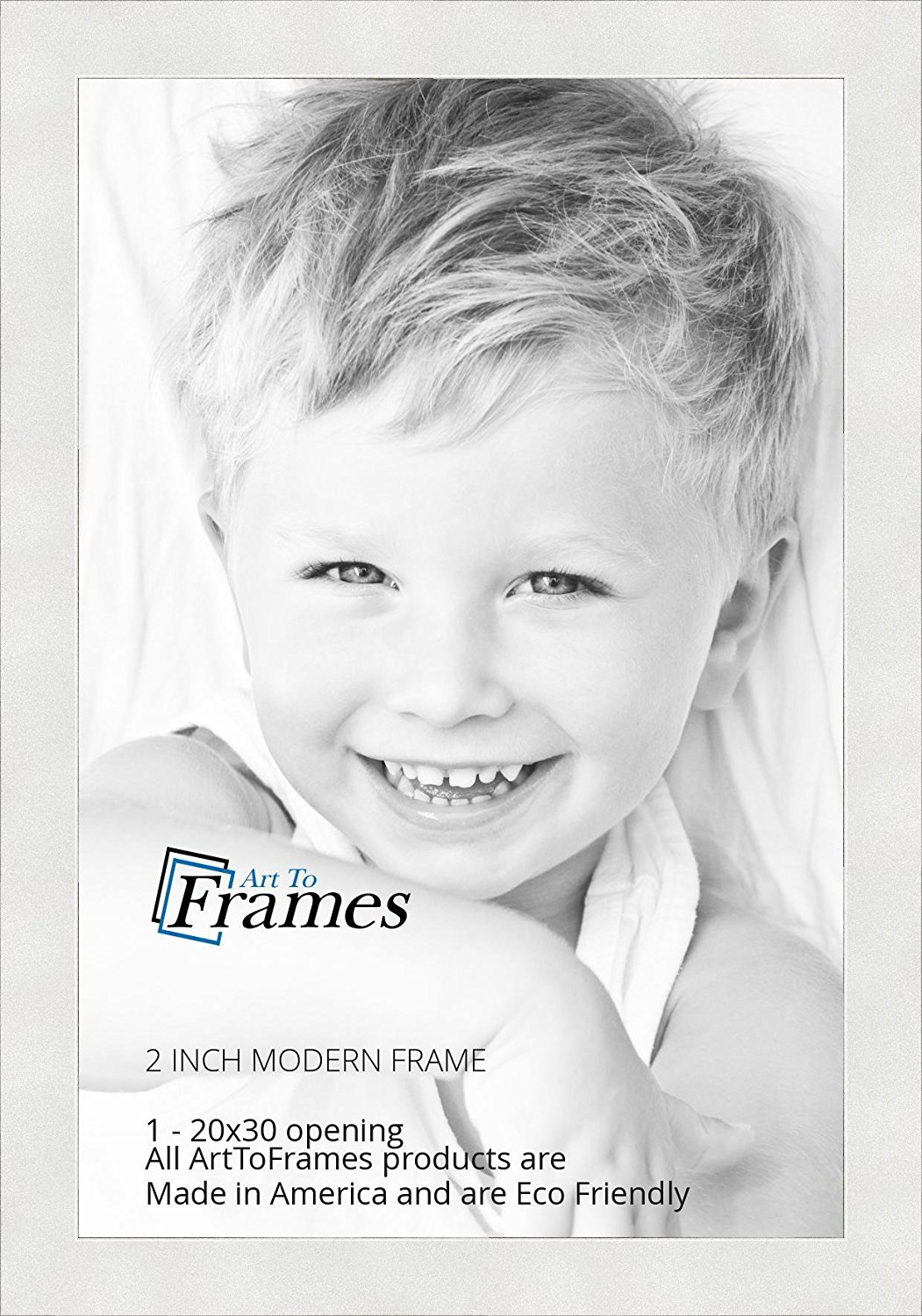 ArtToFrames 20x30 / 20 x 30 Picture Frame White .. 2'' wide (WOMFRBW74)