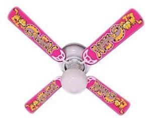 """Ceiling Fan Designers Ceiling Fan, New Garfield The Cat Kids Girls Pink, 42"""""""