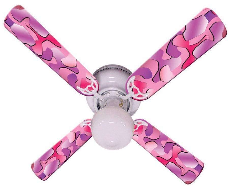 Ceiling Fan Designers Urban Camo Indoor Ceiling Fan - Hot Pink