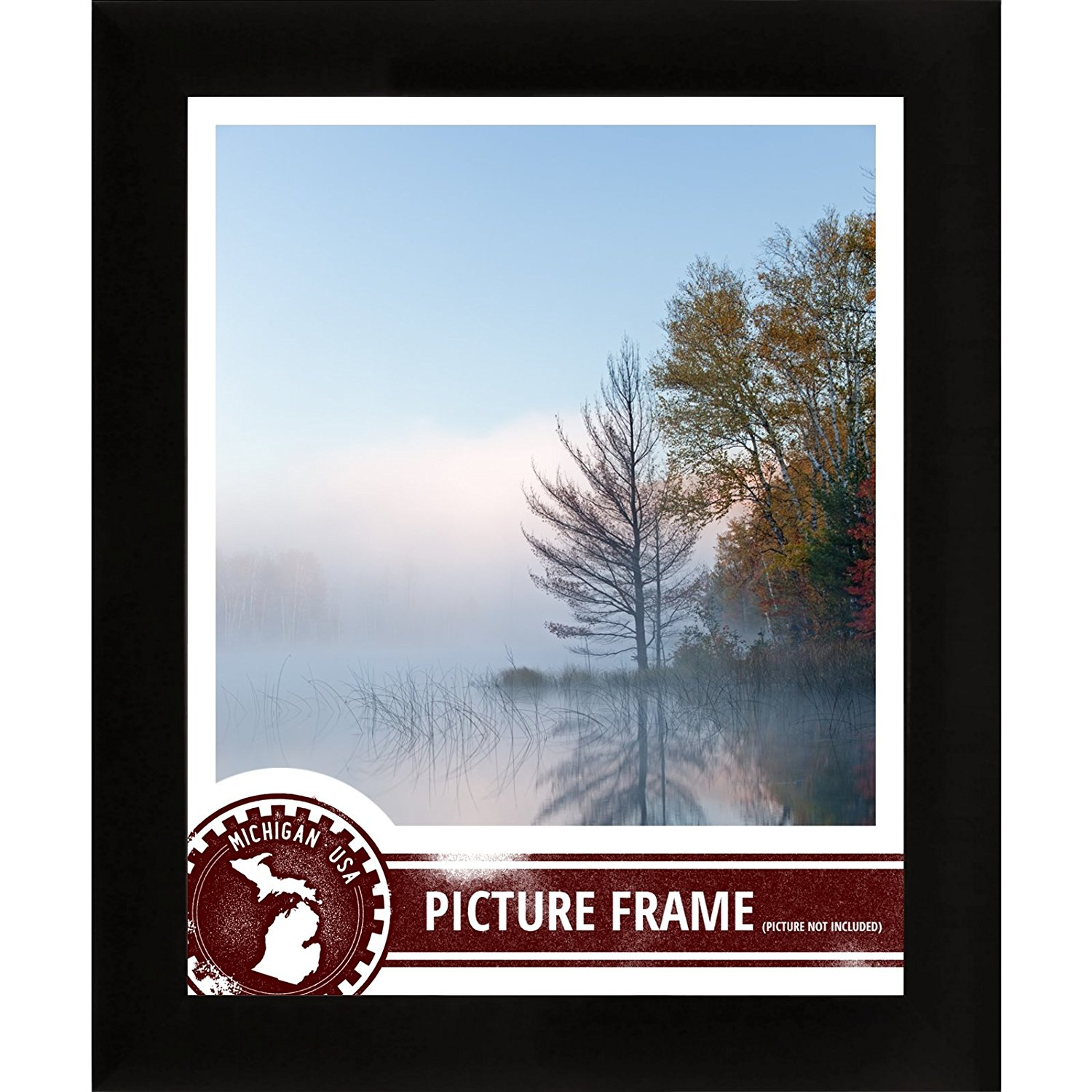 Craig Frames 1WB3BK 20 by 30-Inch Picture Frame, Smooth Wrap Finish, 1-Inch Wide, Black