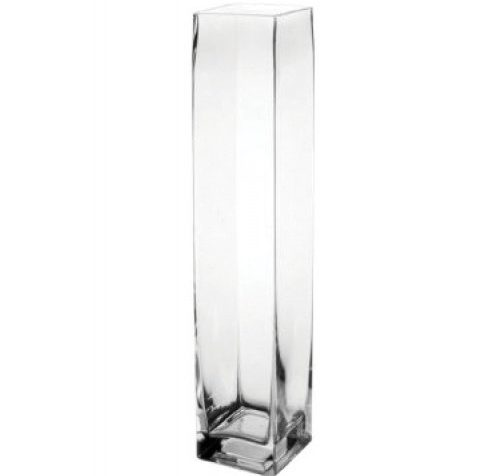 "Flower/Bud Glass Vase Decorative Centerpiece, Home or Wedding by Royal Imports - 9""x2"", Clear"